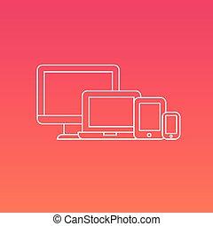 Digitale elektronische Geräte.