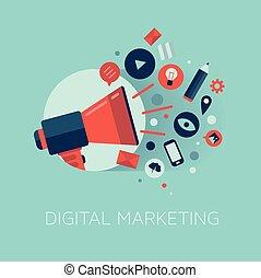 Digitale Marketing-Illustration