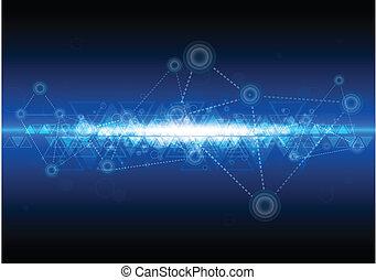 Digitale Netzwerktechnologie Hintergrund