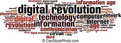 Digitale Revolution Wortwolke