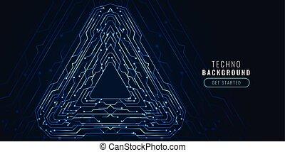 Digitale Technologie Schaltkreisdiagramm futuristische Banner.