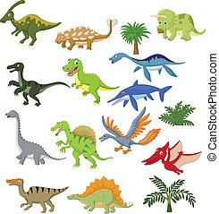 Dinosaurier-Cartoon-Sammlung.