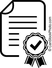 Diploma Zertifikat Icon.