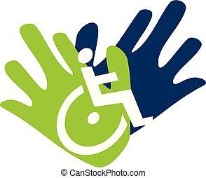 Disability Care Logo Design Vorlage Vektor.