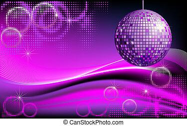 Disco-Ball Hintergrund.