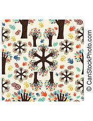 Diversity-Baum-Handmuster