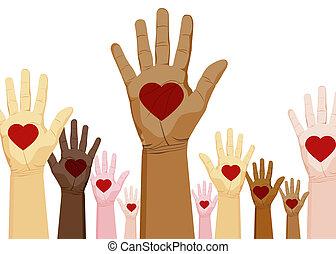 Diversity-Hände