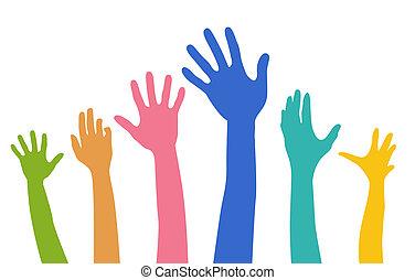 Diversity-Hände.