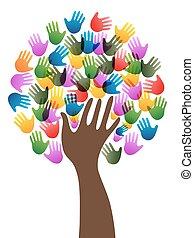 Diversity-Händebaum.