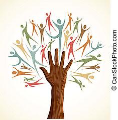 Diversity Human Hand Baumset