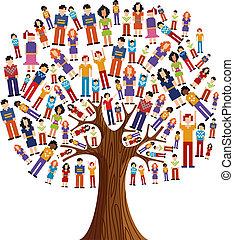 Diversity pixel menschlicher Baum