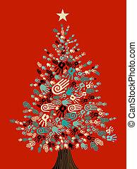 Diversity Weihnachtsbaumhände