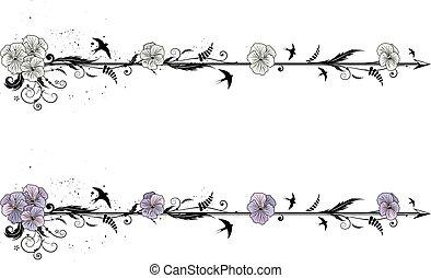 Divider mit Blumen von Viola.