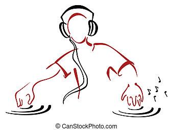 DJ hinter der Konsole