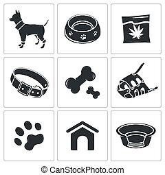 doggy, sammlung, ikone