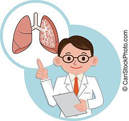 Doktor für eine Beschreibung der Lun.