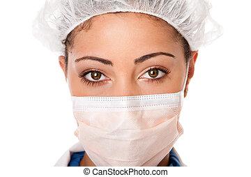 Doktor Krankenschwesternaugen