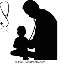 Doktor mit Babyvektoren