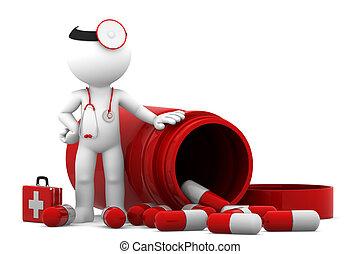 Doktor mit Pillen