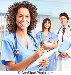 Doktor und Krankenschwestern