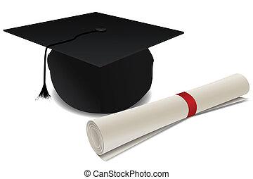 Doktortitel Hut mit Abschluss