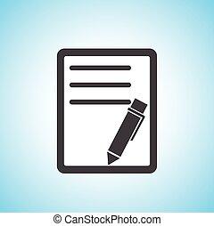 Dokument mit Stift/Papier Icon.