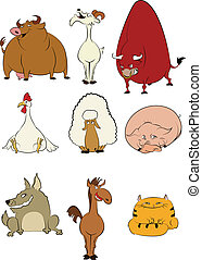 Domesische Cartoon-Tiere