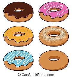 Donuts im Zeichentrickfilm.