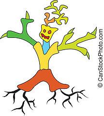Doodle-Baum-Mann