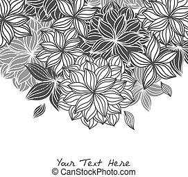 Doodle floral Hintergrund