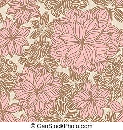 Doodle floral nahtlos Muster.