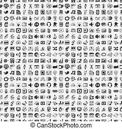 Doodle Media Symbole gesetzt.