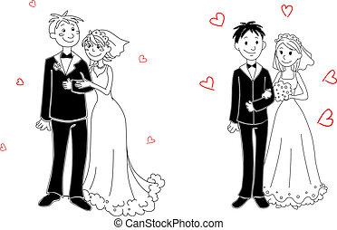 Doodle-Paar zur Hochzeit.