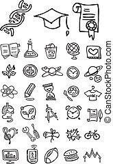Doodle School und College-Ikonen