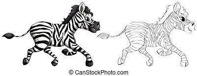Doodle-Teufel für Zebra.