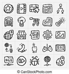 Doodle Web Icons gesetzt.
