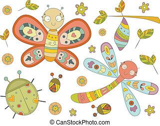doodles, insekt