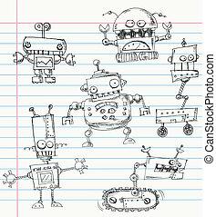 doodles, roboter