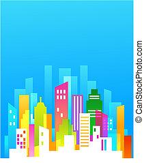 Downtown Hintergrund mit blauem Himmel