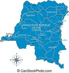 d.r., kongo, map(former, zaire)