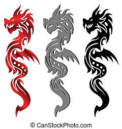 Drachen, Stammestätowierung