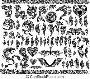 Drachen tätowieren sich tätowiert