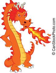 Dragon Fire Cartoon.