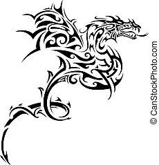 Dragon Tribal Tattoo.