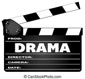 drama, film, clapperboard