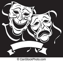 Drama-Masken.