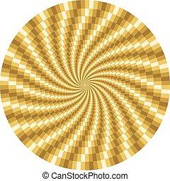 Drehende optische Illusion.