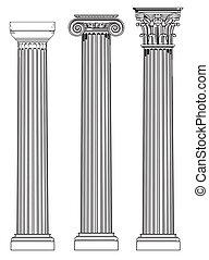 Drei alte Säulen