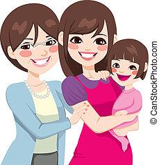 Drei Generationen japanische Frauen.