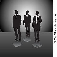 Drei Geschäftsmänner